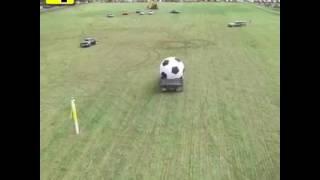Play football with car ....
