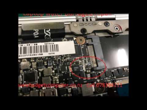 laptop water damaged repair hamilton