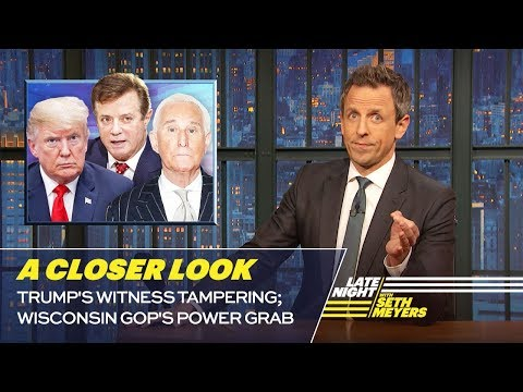 Trumps Witness Tampering; Wisconsin GOPs Power Grab: A Closer Look
