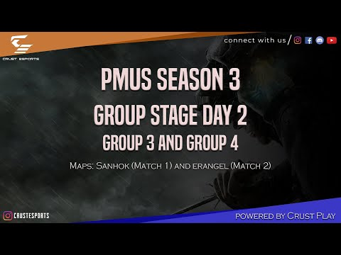 PUBG MOBILE UNDERDOG SCRIMS SEASON 3 | Group Stage Day II | Group 3 And 4 | Crust ESports