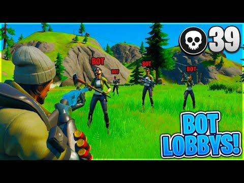 How To Get In FULL BOT LOBBYS In Fortnite! *EASY WINS*
