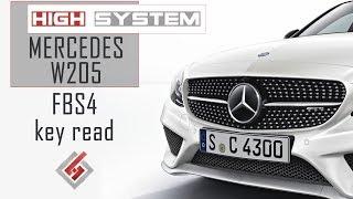 Mercedes C-Class W205 read key (FBS4)