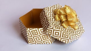DIY Gift Box tutorial | Paper Gift Box | Easy Paper Crafts | Little Crafties
