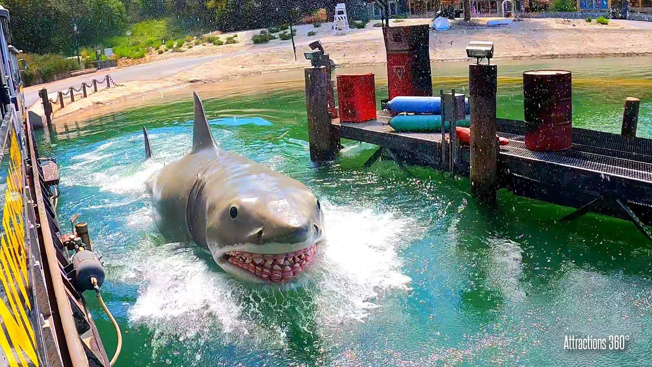 [4K] Jaws, King Kong, & Earthquake | Studio Tour Ride at Universal Studios Hollywood 2021