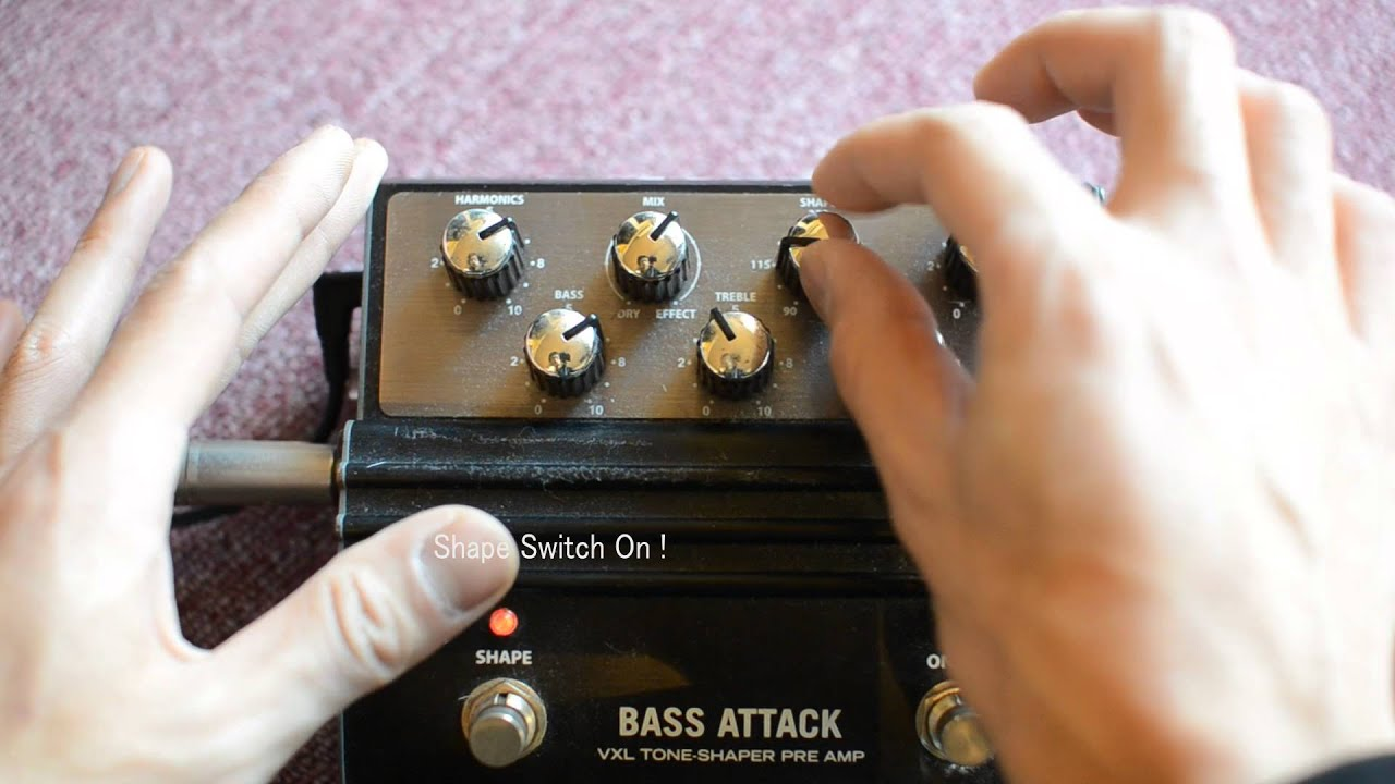 hartke bass attack preamp and eq test youtube. Black Bedroom Furniture Sets. Home Design Ideas