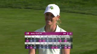 Amy Olson finit co-leader du round 2 de l'Evian Championship