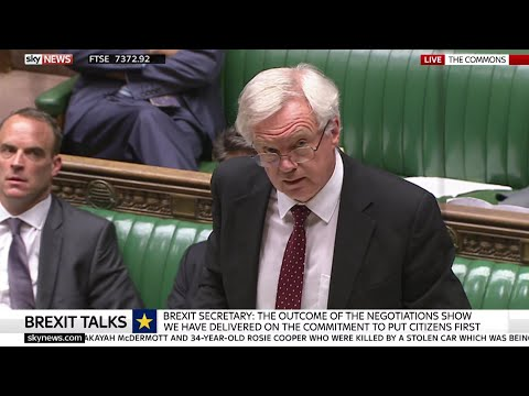Brexit Secretary David Davis on the Progress of Brexit Negotiations