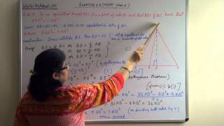 Smilar Triangles Geometry Class X  Exercise 6.5 Q.No.15 NCERT