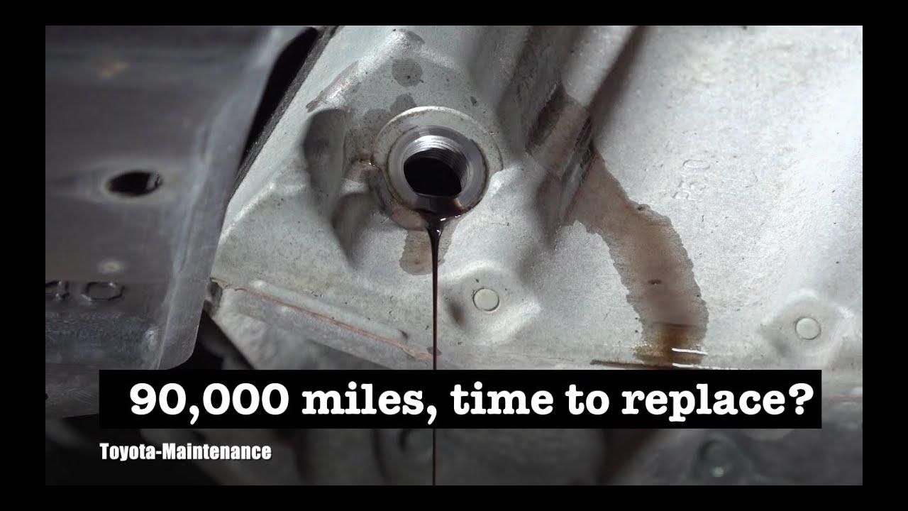 Toyota Prius C transmission fluid after 90,000 miles