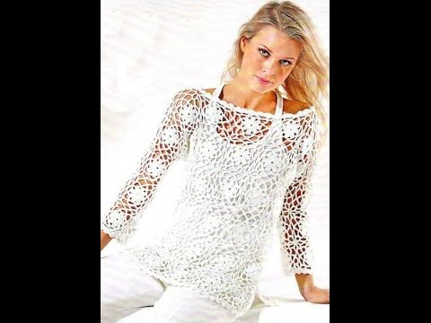How To Crochet Blouse Top Pullover Free Pattern Youtube