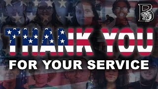 Thank You For Your Service // Veterans Day // Blythewood High School