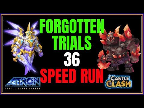 FORGOTTEN TRIALS 36 SPEED RUN - TRYING TO RANK - CASTLE CLASH