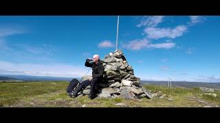 Hiking the Norwegian Hafjell/Øyerfjell Mountains - In one minute... (with drone video)
