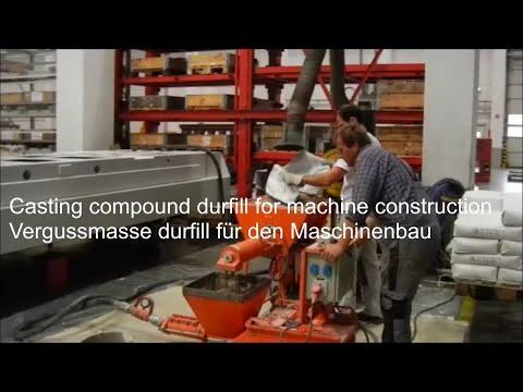 Vergussbeton DURFILL für den Maschinenbau, UHPC Casting Compound Durfill for Machinery Industry