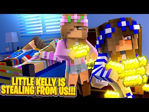 Minecraft LITTLE KELLY IS STEALING FROM LITTLE LEAH & DONNY!!!