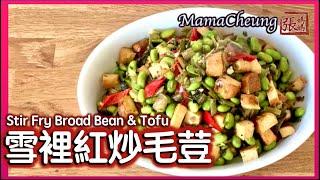 ★ 雪裡紅炒毛荳 一 簡單做法 ★   Stir Fry Broad Bean u0026 Tofu Easy Recipe