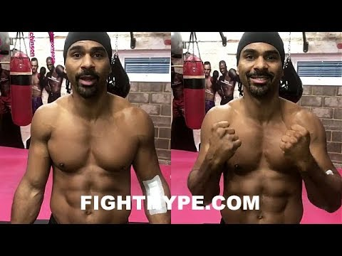 DAVID HAYE 8 DAYS AFTER BICEP SURGERY; GIVES UPDATE AND VOWS TO STAY UNDER 220 LBS.