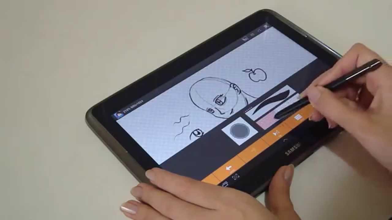 Galaxy Note 10 1 App `LayerPaint` drawing (desenhando) by Gata Flecha Artes