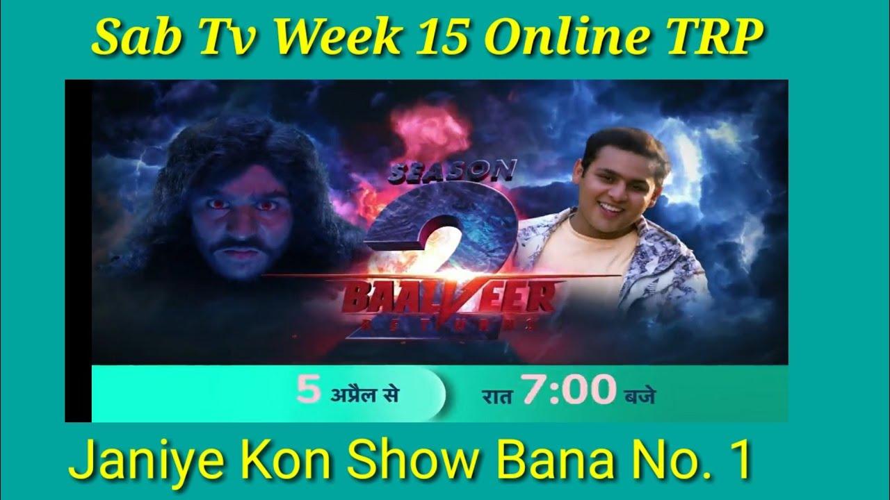 Download Sab TV Week 15 Online TRP | Baalveer Returns TRP | TMKOC TRP | Hero TRP | Madam Sir TRP | BARC TRP