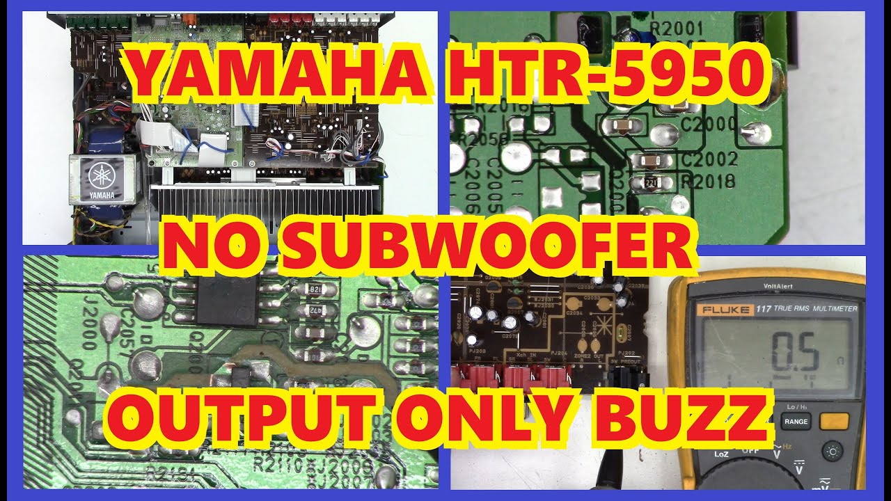 No subwoofer output on receiver