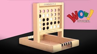 How to Make Connect 4 game from cardboard at home ! Amazing DIY Connect 4 game