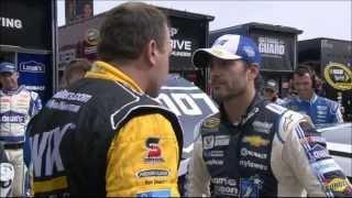 Jimmie Johnson vs Ryan Newman @ Michigan 2014 [HD]