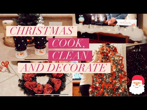 *NEW* CLEAN AND DECORATE WITH ME FOR CHRISTMAS PART 2! | DIY CHRISTMAS WREATH