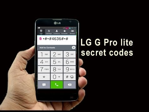 LG G Pro lite secret codes