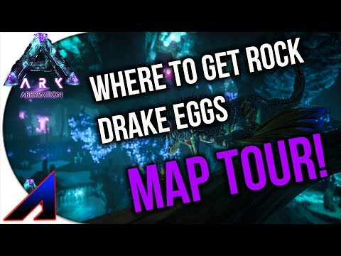 ARK Aberration - ROCK DRAKE EGGS AND MAP TOUR!