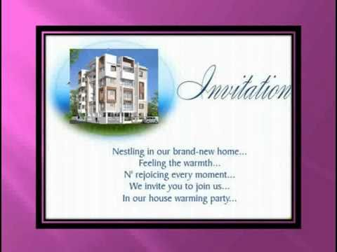 House Warming Ceremony Invitation Youtube