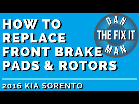 2016 KIA SORENTO – HOW TO REPLACE FRONT BRAKE PADS & ROTORS – DIY