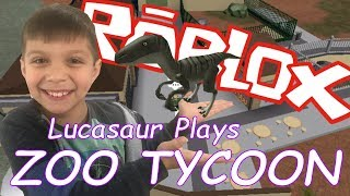 Roblox Zoo Tycoon | Lucasaur Crashes The Quad and Starts Building An Epic Zoo