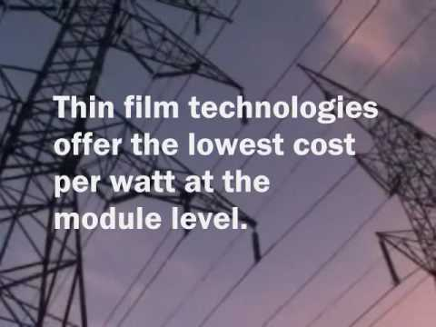 Solar Energy, Thin Film Technology
