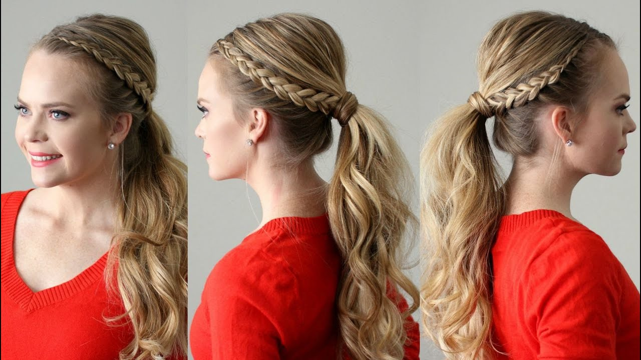 Dutch Lace Braid Ponytail Missy Sue YouTube