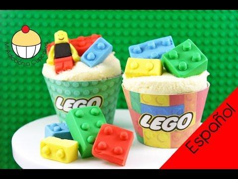 f0b4ebc3a586 ¡Cupcakes con LEGO! Cómo Hacer Lego Comestible para Tortas y Cupcakes - por  Cupcake Addiction