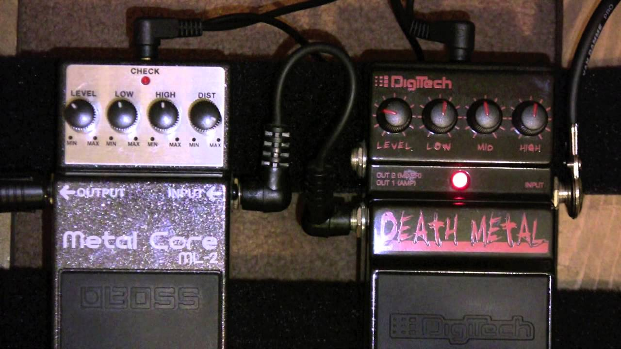 boss metal core ml 2 vs digitech death metal distortion pedal shootout youtube. Black Bedroom Furniture Sets. Home Design Ideas