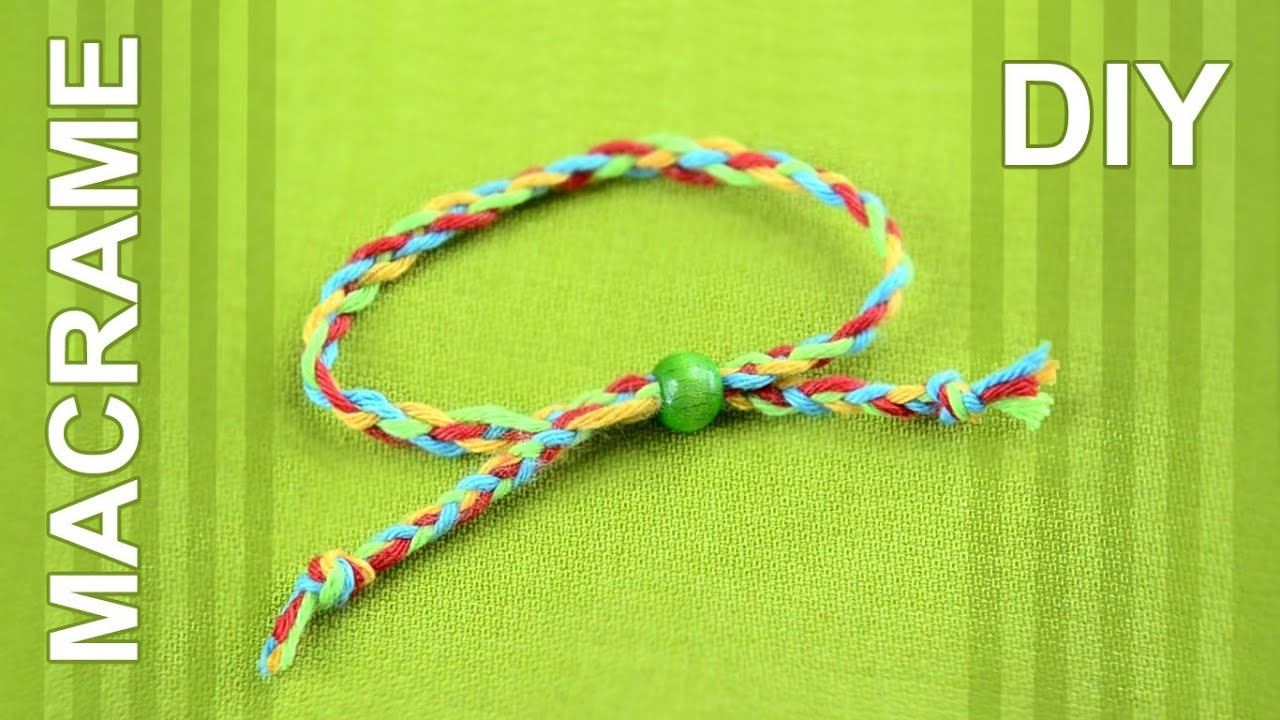 How To Braid Friendship Bracelet With Four Strands Super Easy
