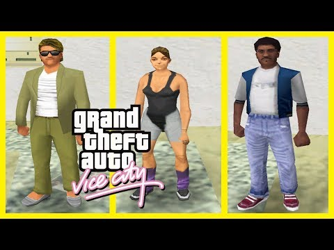 GTA Vice City Pedestrian Quotes : Rich Guy, Female Jogger & Black Street Guy