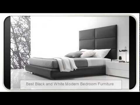 Best Black and White Modern Bedroom Furniture - YouTube