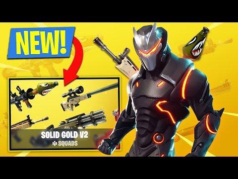 SOLID GOLD v2 GAME MODE!! Fortnite Battle Royale