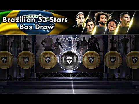 PES 2018 MOBILE Brazilian 53 Stars Box Draw Opening  PES MOBILE KHMER
