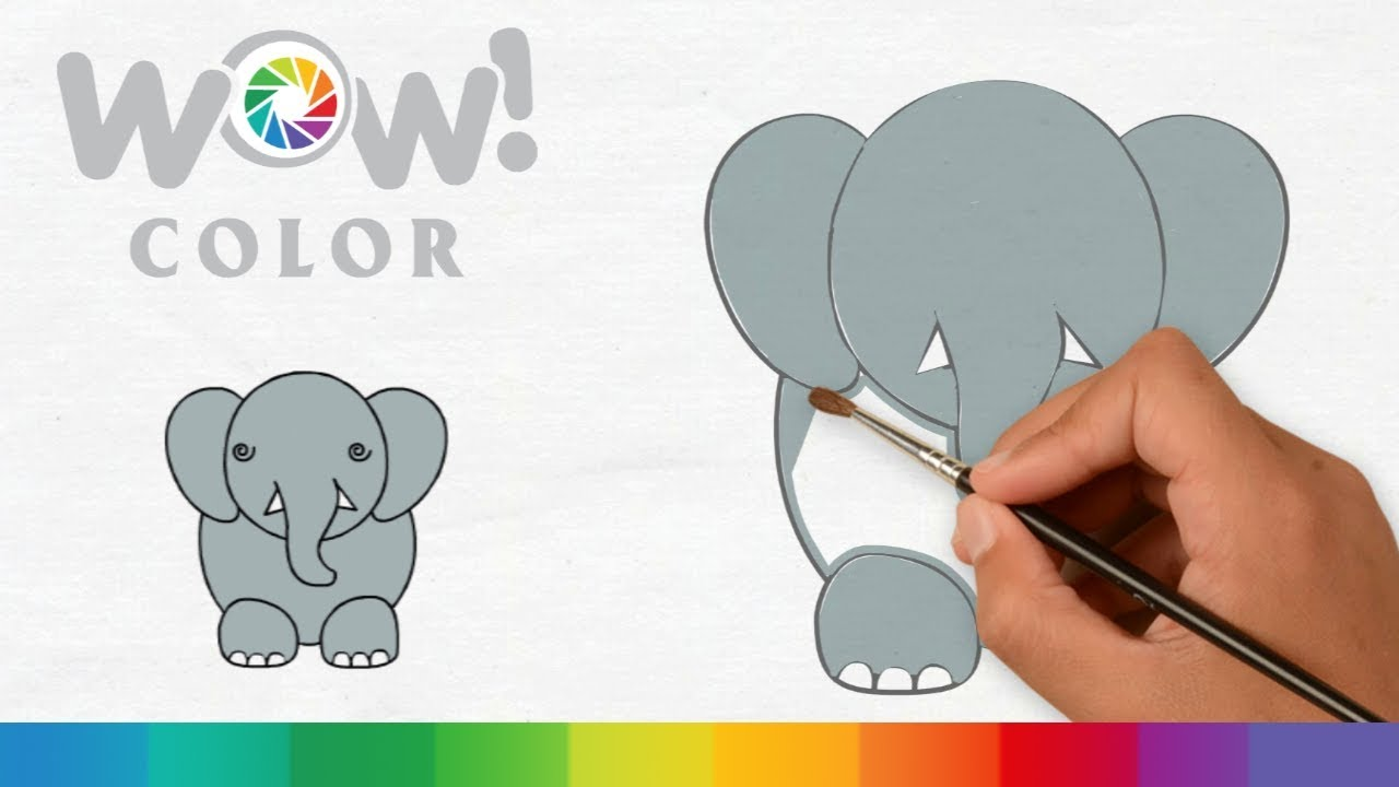 How to Draw A Elephant Easily l Coloring Pages l Drawing for ...