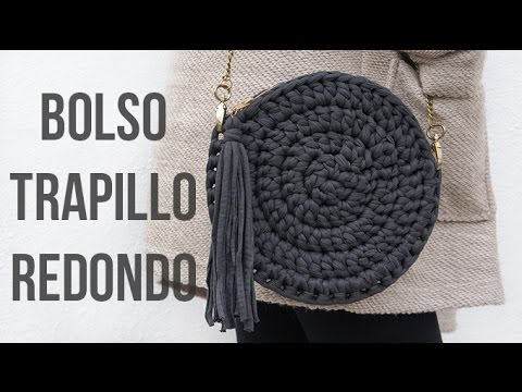 Bolso de trapillo redondo youtube for Bolsos de crochet de trapillo