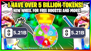 TAPPING SIMULATOR NEW WHEEL! HOW TO GET FREE BOOSTS!  I GOT 5 BILLION SUPER REBIRTH TOKENS IN 3 MINS