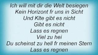 Rosenstolz - Lass Es Regnen Lyrics