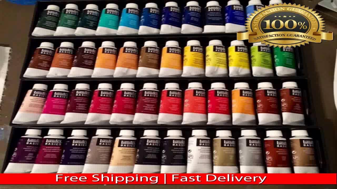 Liquitex Basics Acrylic Paint Tube 24 Piece Set Youtube