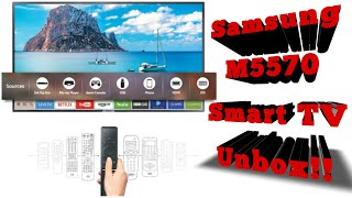 Samsung M5570 smart TV unboxing!!