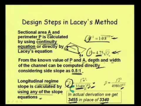 Mod-6 Lec-3 Design of Alluvial Channel-2