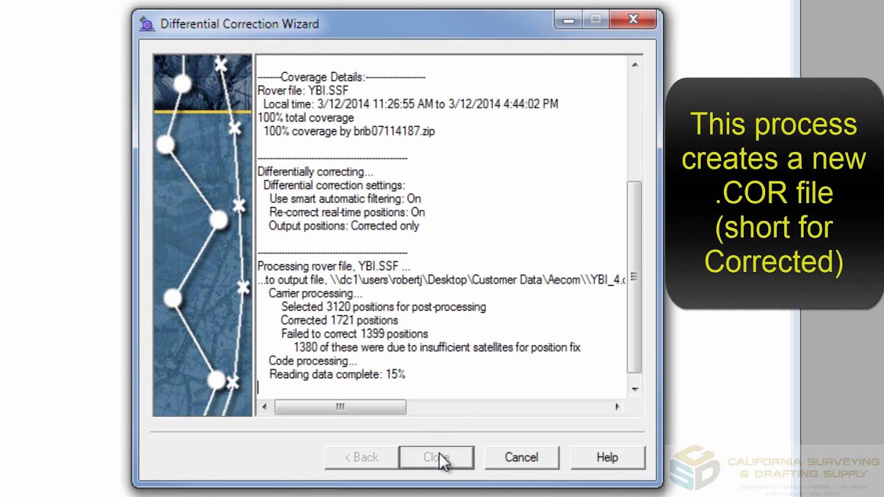 Post Processing GNSS Data in Trimble Pathfinder Office