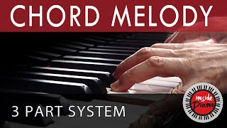How to Play Piano Chord Melody. Piano Chord Progressions.(How to play Chord-Melody on Piano as a 3 Part System distributing the voices correctly chording with both hands. Visit Our Blog http://insidepiano.com., 2015-12-14T16:03:45.000Z)
